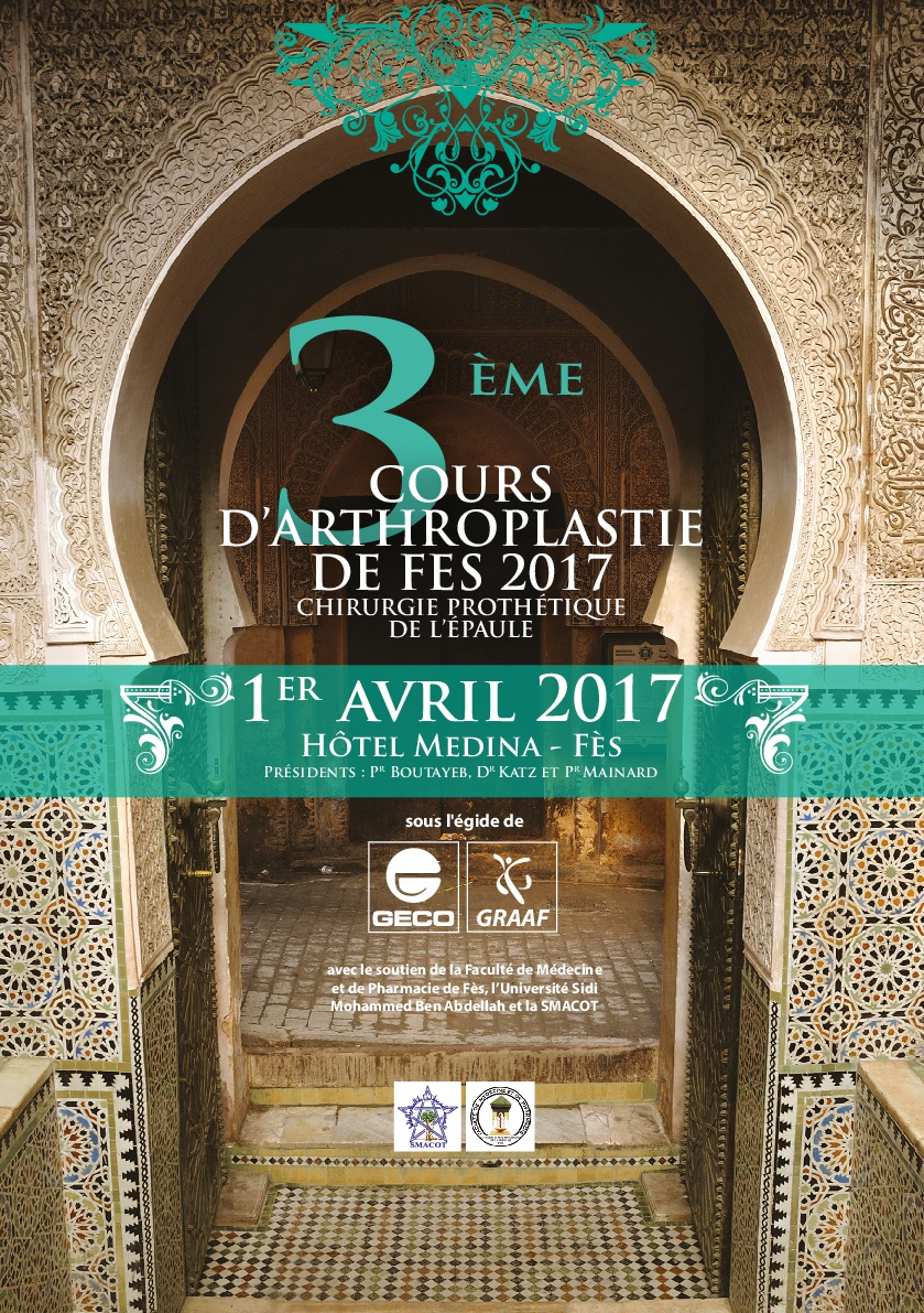 Arthroplasty course 2017 affiche